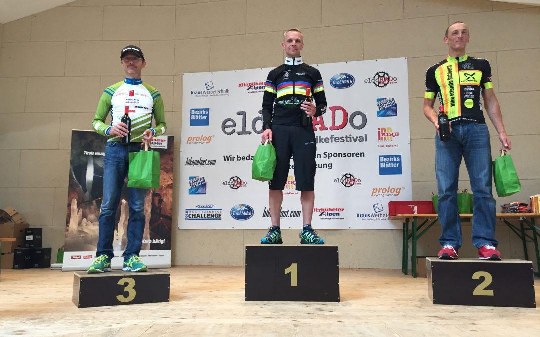 André beim eldoRADo MTB Marathon in Angerberg (Tirol) auf dem Podest