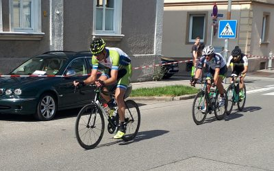 Franz und Olli mischen beim Kriterium in Kempten mit