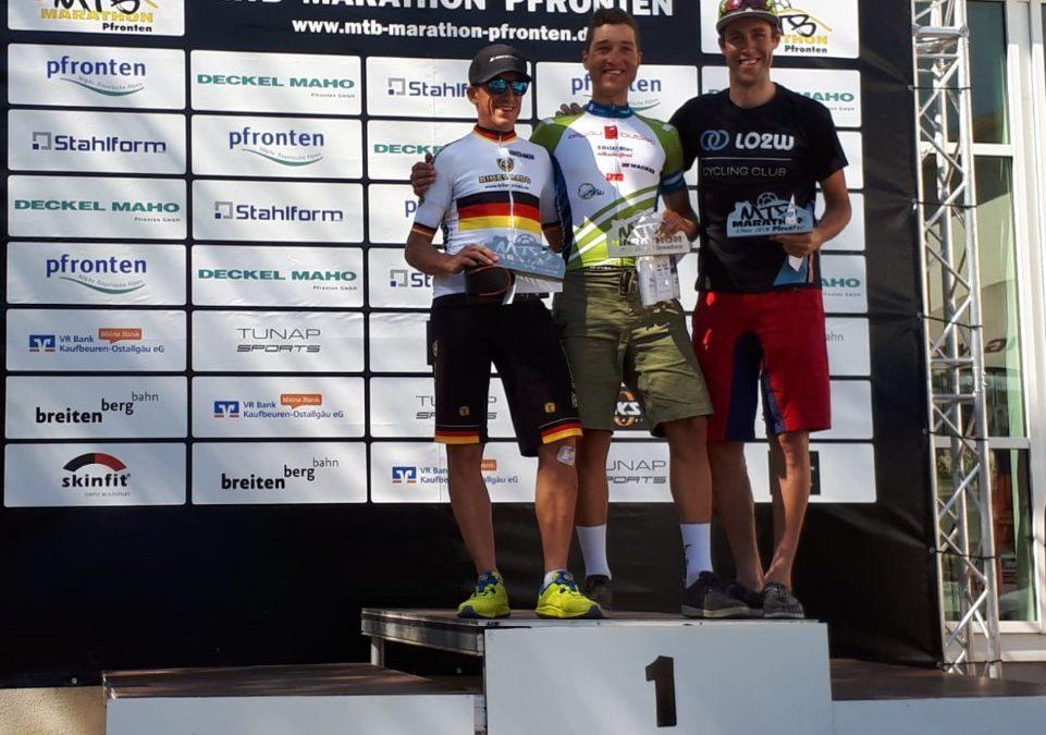 Sieg: Matthias gewinnt Pfrontener MTB Marathon