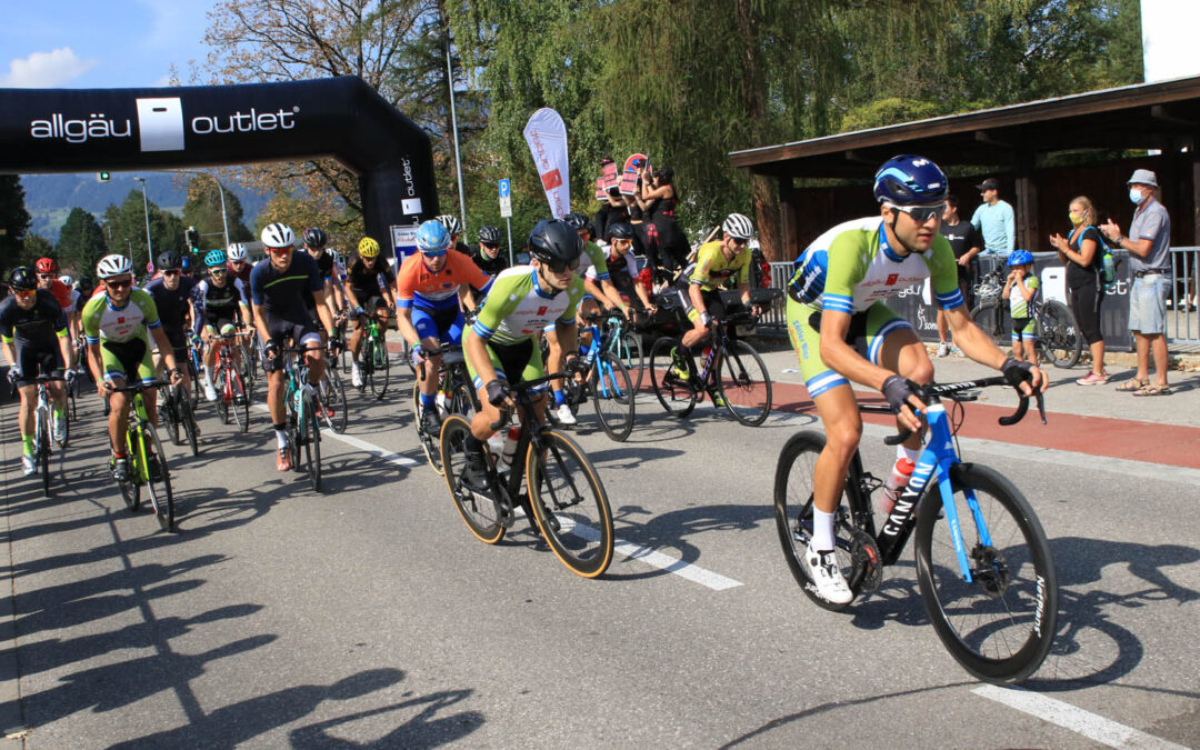 Spannende Radsportszenen in Sonthofen